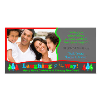 B1 Laugh All Way Christmas Photo Template