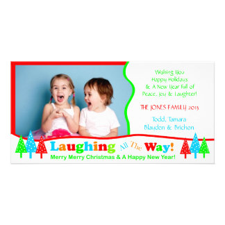 B1 Laugh All Way White Christmas Photo Template