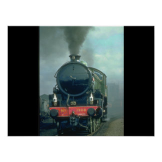 B1 No. 1306 blackens the_Steam Trains Poster