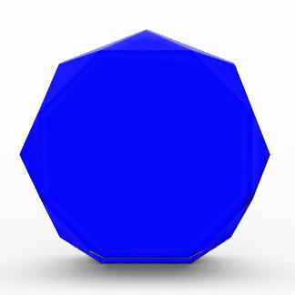 B21 Bouncy Bright Blue Color Acrylic Award