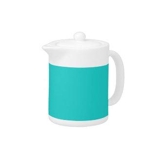 B22 Natural Robin's Egg Blue Color Teapot
