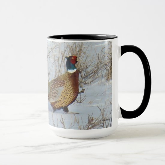 B22 Ring-necked Pheasant in Snow Mug