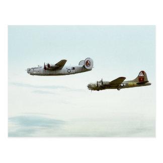 B24 and B17 Flying Postcard