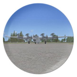 B24 Liberator US Bomber Plane Plate