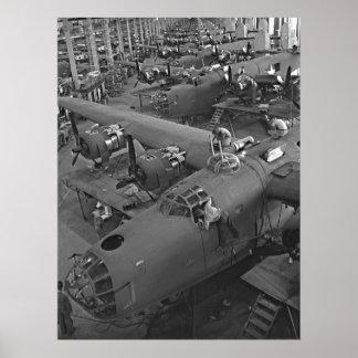 B24 War Bird Assembly 1943 Poster