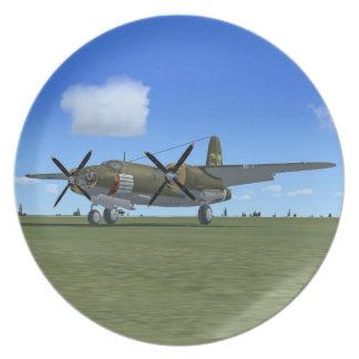 B26 Marauder WW2 US Bomber Plane Plate
