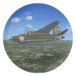 B26 Maurauder WW2 US Bomber Plane Plate