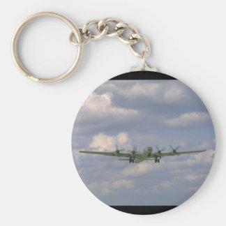B29 Flying. (plane_WWII Planes Keychain