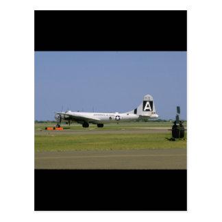 B29 On Runway. (plane;b29_WWII Planes Postcard