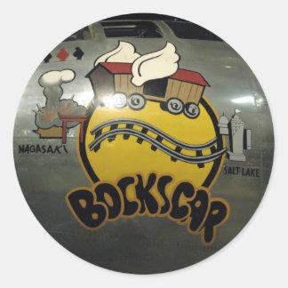 "B29 Superfortress ""Bockscar"" Classic Round Sticker"