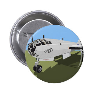 B29 Superfortress Bomber Button