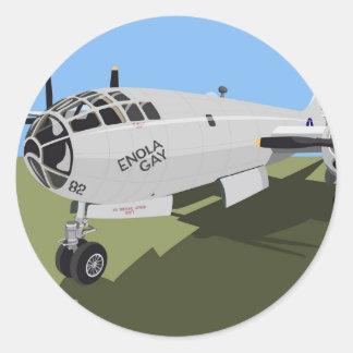B29 Superfortress Bomber Classic Round Sticker