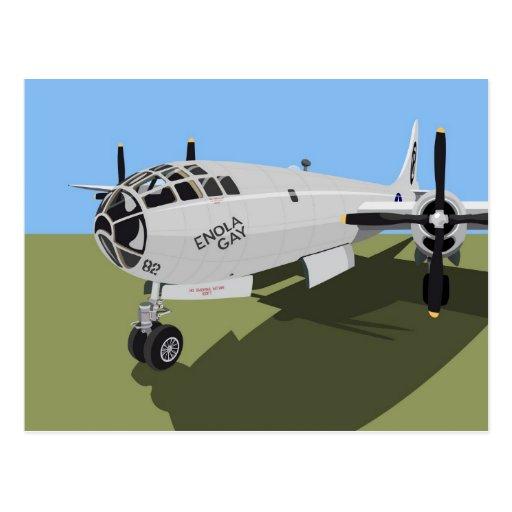 B29 Superfortress Bomber Postcard