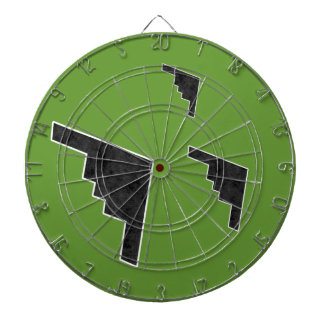 B2 Stealth Bomber Silhouette Formation Dart Board