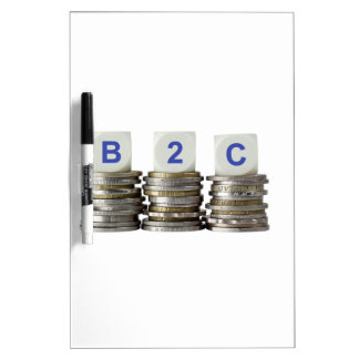 B2C - Business to Consumer Dry-Erase Board
