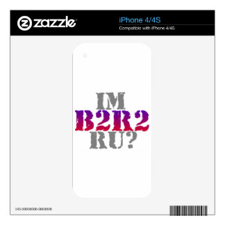 B2R2 Product Line iPhone 4S Skin