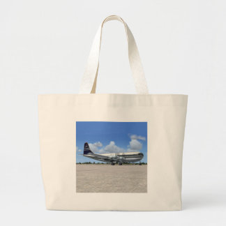 B377 Stratocruiser Airliner Large Tote Bag