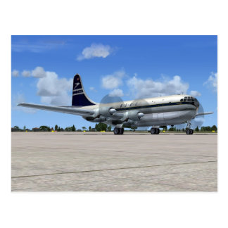 B377 Stratocruiser Airliner Postcard