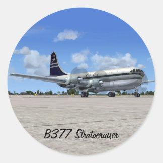 B377 Stratocruiser Airliner Round Stickers