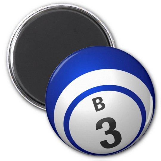 B3 bingo ball magnet
