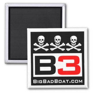 B3 Cráneo y imán de la bandera pirata