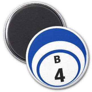 B4 bingo ball fridge magnet