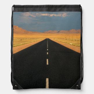 B4 National Road Through Desert, Near Aus Drawstring Bag