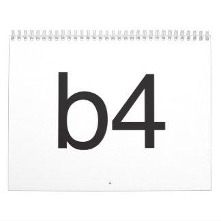 b4 calendarios
