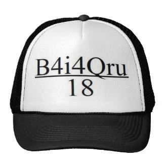 B4I4QRU Over 18 Hats