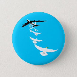B52 Peace Dove Bomber Button