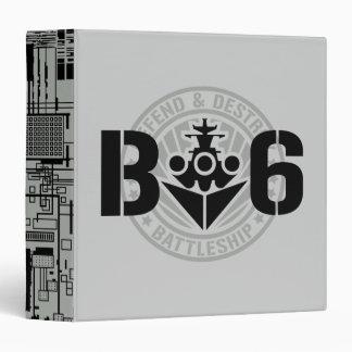 B6 Defend & Destroy 3 Ring Binders