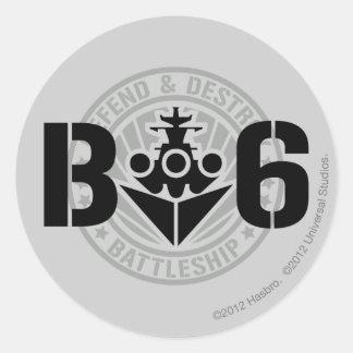 B6 Defend & Destroy Classic Round Sticker