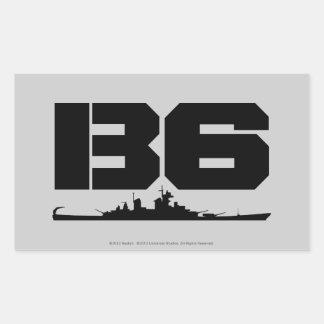 B6 RECTANGULAR STICKER