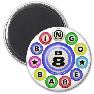 B8 Bingo Babe 2 Inch Round Magnet
