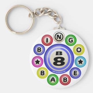 B8 Bingo Babe Basic Round Button Keychain