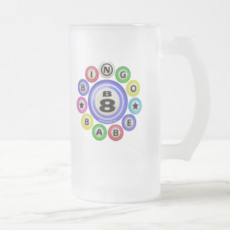 B8 Bingo Babe Frosted Glass Beer Mug