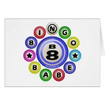 B8 Bingo Babe Greeting Cards