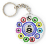 B8 Bingo Babe Keychain