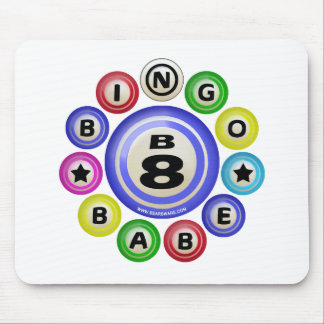 B8 Bingo Babe Mouse Pad
