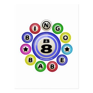 B8 Bingo Babe Postcard