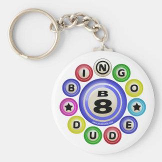 B8 Bingo Dude Basic Round Button Keychain