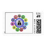 B8 Bingo Dude Postage Stamps