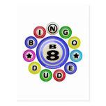 B8 Bingo Dude Postcard