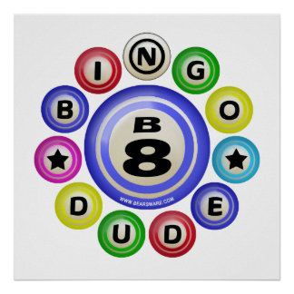B8 Bingo Dude Poster