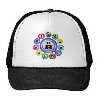 B8 Bingo Dude Trucker Hats