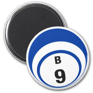 B9 bingo ball fridge magnet