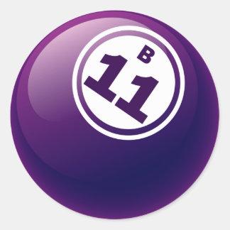 B 11 BINGO BALL STICKERS