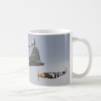 b-17 and p-51 mustangs coffee mug