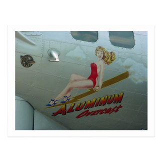 """B-17 arte """"cubierto"""" de aluminio de la nariz postal"""