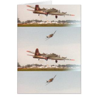 B-17 BOMBER WW2 CARD